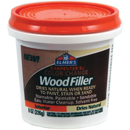 Elmer's Carpenter's Color Change Wood Filler, Natural, 8 (Maple Wood Putty)