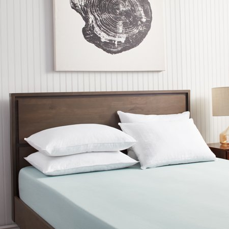 Famous Maker 100-percent Cotton Dobby Weave Down Alternative Pillows (Set of 4) - Famous Maker 300 Thread