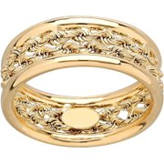 Brilliance Fine Jewelry 10kt Yellow Gold Rope Center Ring