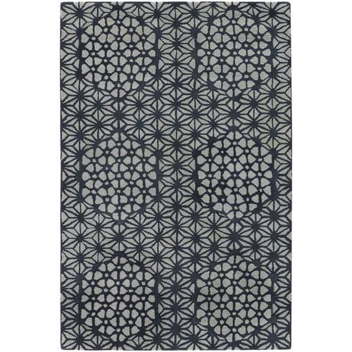 Chandra Rugs Parson Gray Designer Black/White Rug