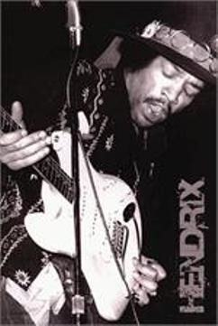 "Jimi Hendrix Black and White Poster Print 24x36/"" Black And White Ready To Frame"