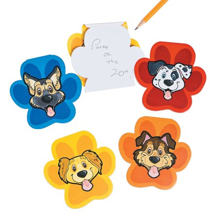 Fun Express - Puppy Party Notepads (2dz) for Birthday - Stationery - Notepads - Notepads - Birthday - 24 Pieces