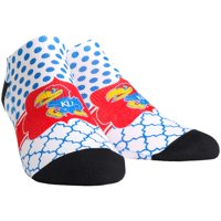 Kansas Jayhawks Rock Em Socks Women's Quatrefoil Dots Low Ankle-Length Socks - S/M