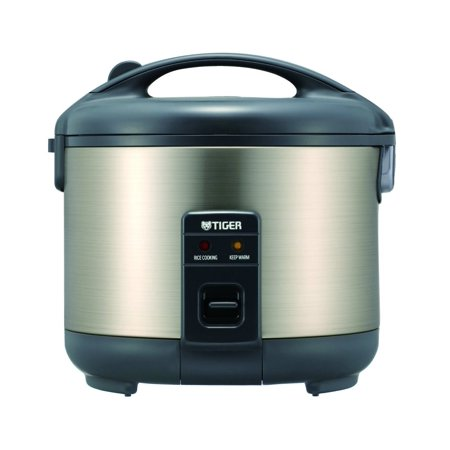 Tiger JNP-S15U 8-Cup (Uncooked) Rice Cooker and Warmer, Stainless Steel