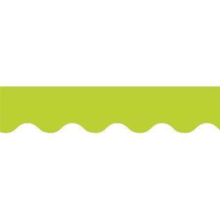 Lime Green Wavy Border - image 1 of 1