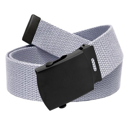 288ab2a3b145f6 Build A Belt - All Sizes Men's Golf Belt in 1.5 Black Slider Belt Buckle  with Adjustable Canvas Web Belt Small Gray - Walmart.com