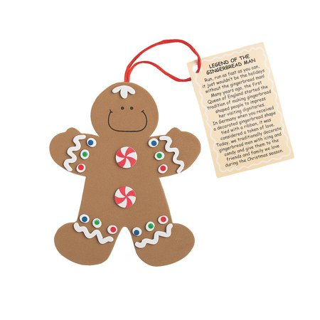 """""""Legend of the Gingerbread Man"""" Christmas Ornament Craft Kit Makes 12"""