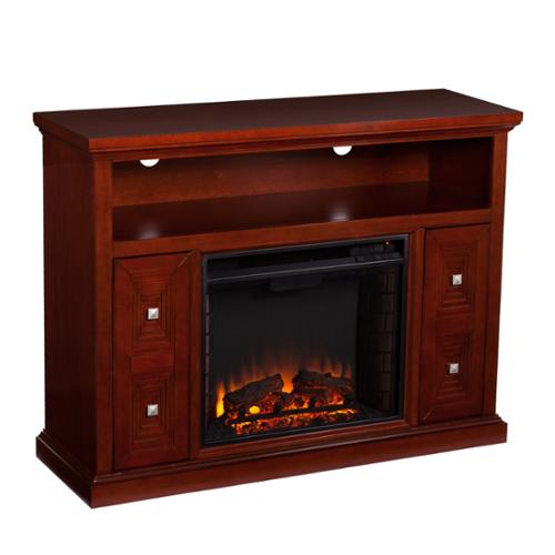 Harper Blvd  Baxter Cherry Media Console/ Stand Electric Fireplace