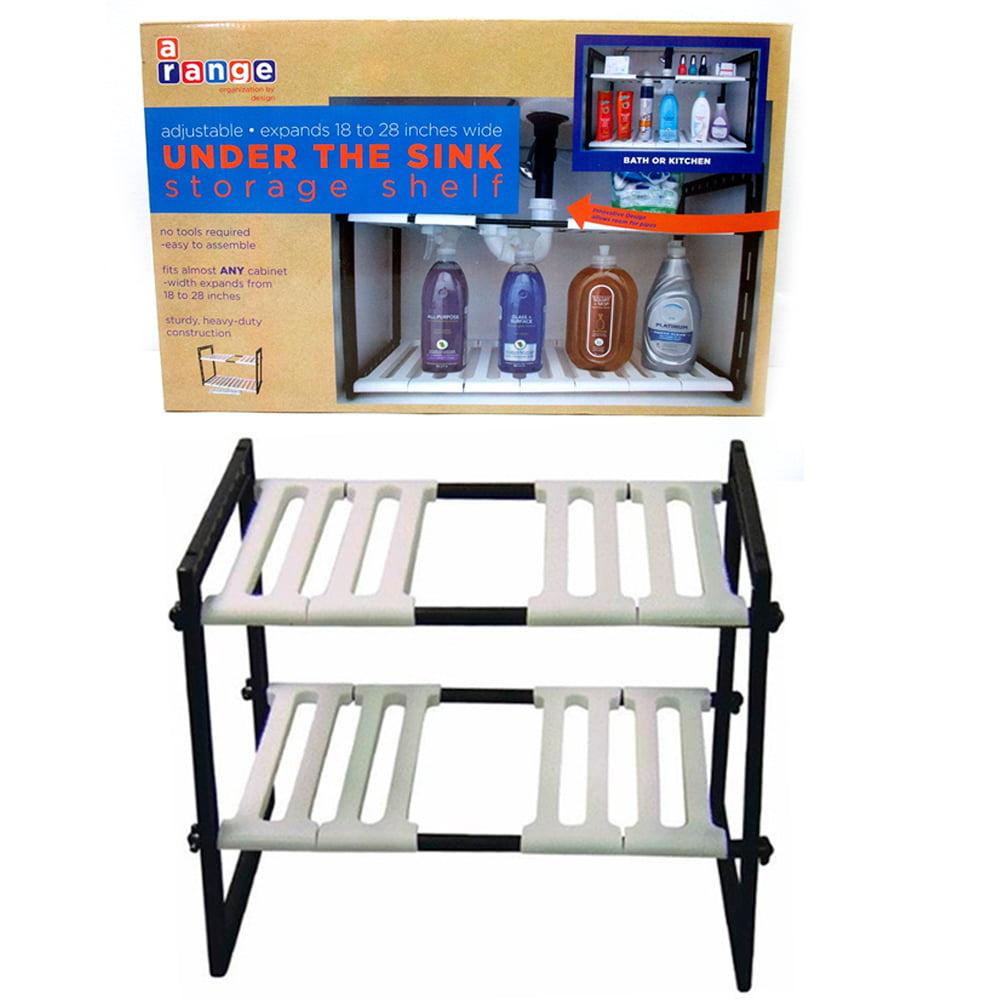 Kitchen Shelves Walmart: 2 Tier Expandable Adjustable Under Sink Shelf Organizer