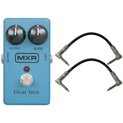 """Dunlop MXR M-103 Blue Box Octave Fuzz Pedal w/2 Free 6"""" Patch Cables"""