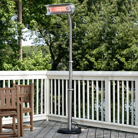 Fire Sense Stainless Steel Telescoping Offset Pole Mounted Infrared Patio Heater ()