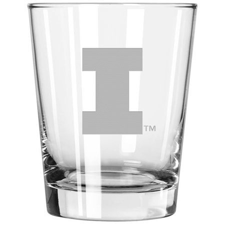 Illinois Fighting Illini 15oz. Etched Double Old Fashioned Glass - No Size