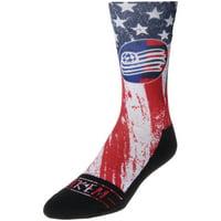 New England Revolution Rock Em Socks For Club and Country Shin Socks - Blue/Red