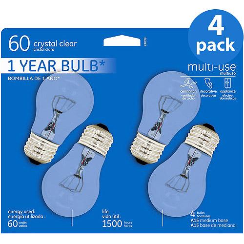 GE Inc 60wt Ceiling Fan Reg Base Clear - 16 bulbs
