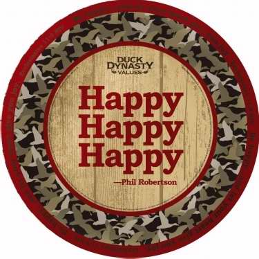 Plate-Dinner-Duck Dynasty-Happy Happy Happy (Pack of 8)