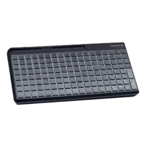 Cherry Spos G86-63410 Pos Keyboard - 142 Keys - 142 Relegendable Keys - Magnetic Stripe Reader - Usb - Black (g8663410euadaa)