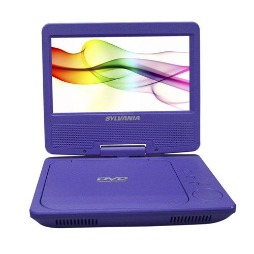 Sylvania SDVD7027-C-PURPLE 7-Inch Portable DVD Player Swivel Screen - Manufacturer Refurbished