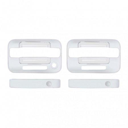 - Chrome F150 Door Handle Cover Set 2 Door w/ Keyless Entry