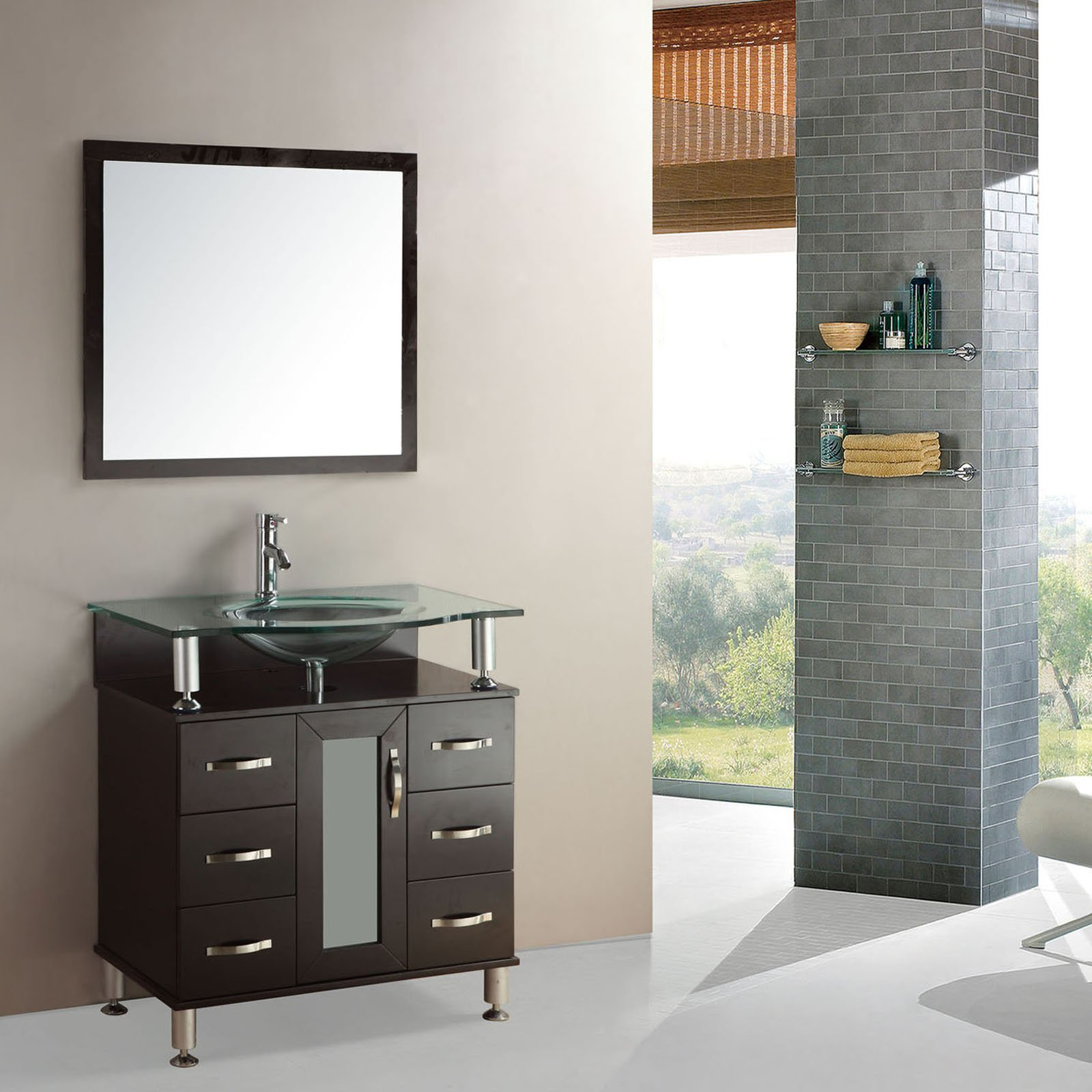 Kokols 9142a 36 in. Single Sink Bathroom Vanity