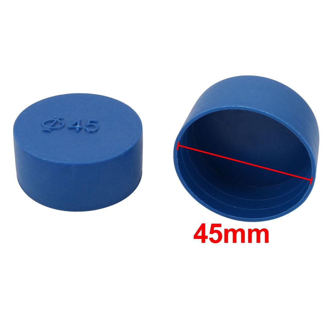 12pcs 45mm Inner Dia PE Plastic End Cap Bolt Thread Protector Tube Cover Blue - image 1 of 2