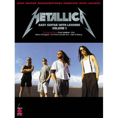 Metallica: Easy Guitar with Lessons, Volume 1 Easy Rhythm Guitar Books