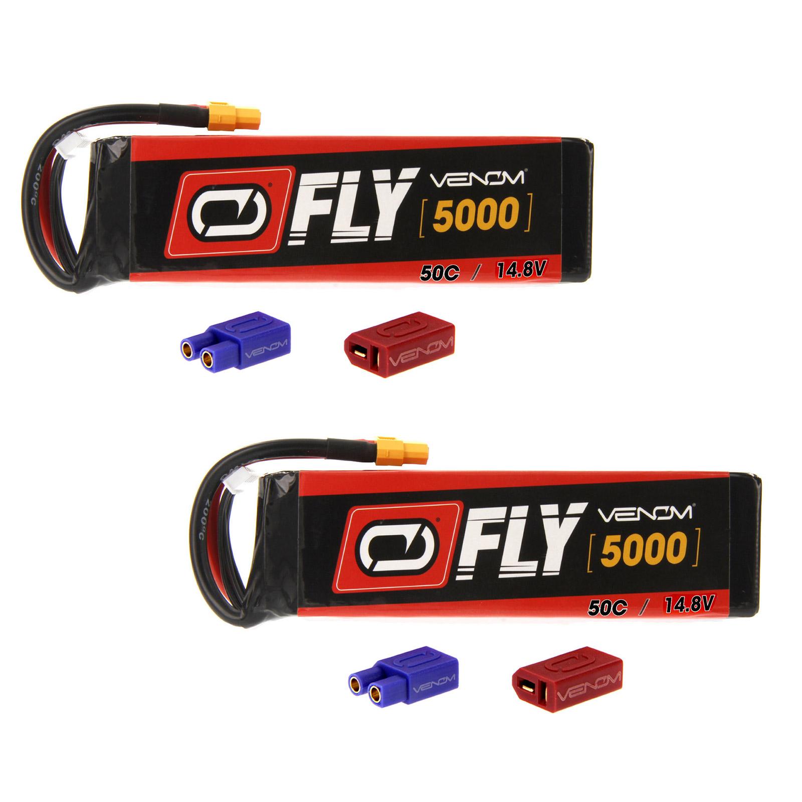 VENOM Fly 50C 4S 5000mAh 14.8V LiPo Battery with  UNI 2.0...