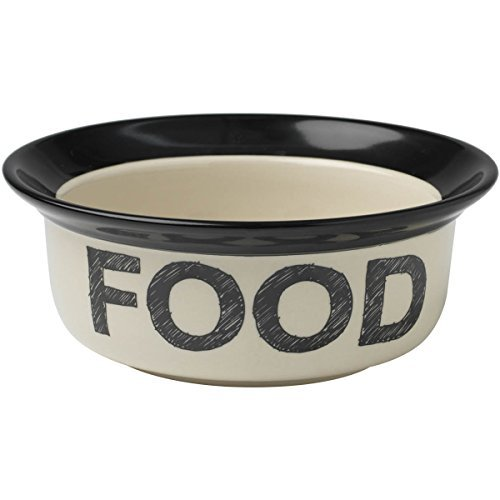 Petrageous Designs Pooch Basics Food or Water Bowl 6 x 2.5 - Dogs of All Sizes, Holds 2 Cups of Food - Dishwasher and Microwave Safe