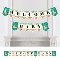 Let's Hang - Sloth - Baby Shower Bunting Banner - Party Decorations - Welcome Baby