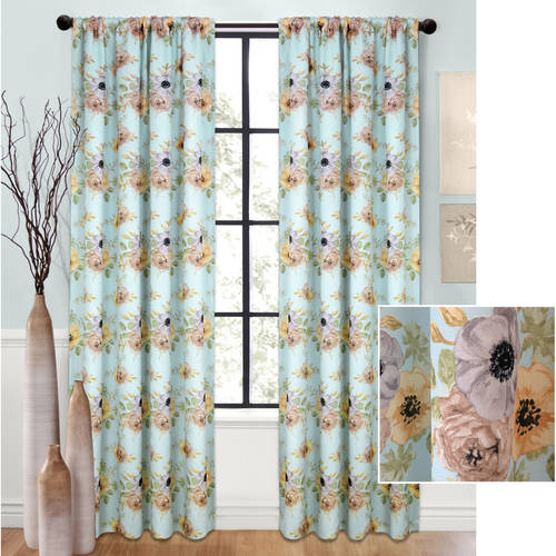 Better Homes and Gardens Floral Blooms Curtain Panel by Colordrift LLC