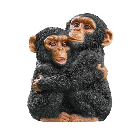 Collections Etc. Hugging Chimps Monkey Animal Garden Statue (Monkey Garden)