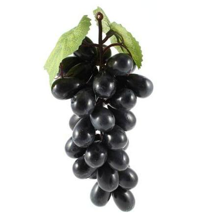 Grape Decor - Restaurant Simulation Fruits Craft Grape Decor Dark Purple w Leaves