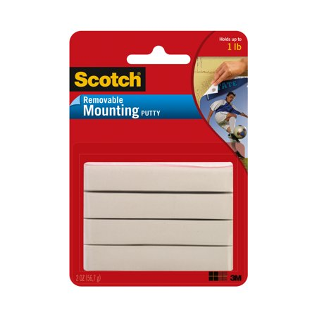 Scotch Mounting Putty  Removable 2 Oz   White