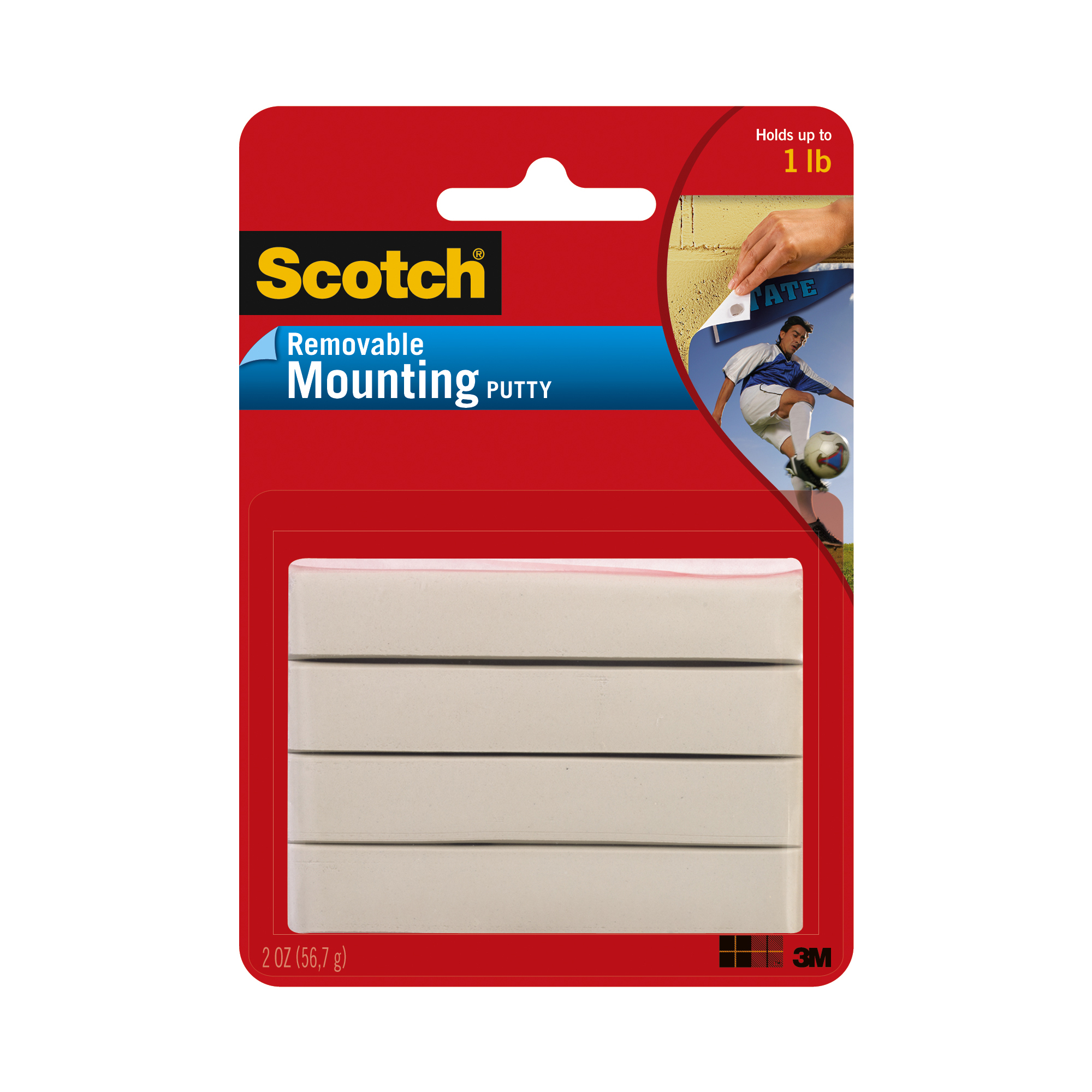 Scotch Mounting Putty, Removable 2 oz., White