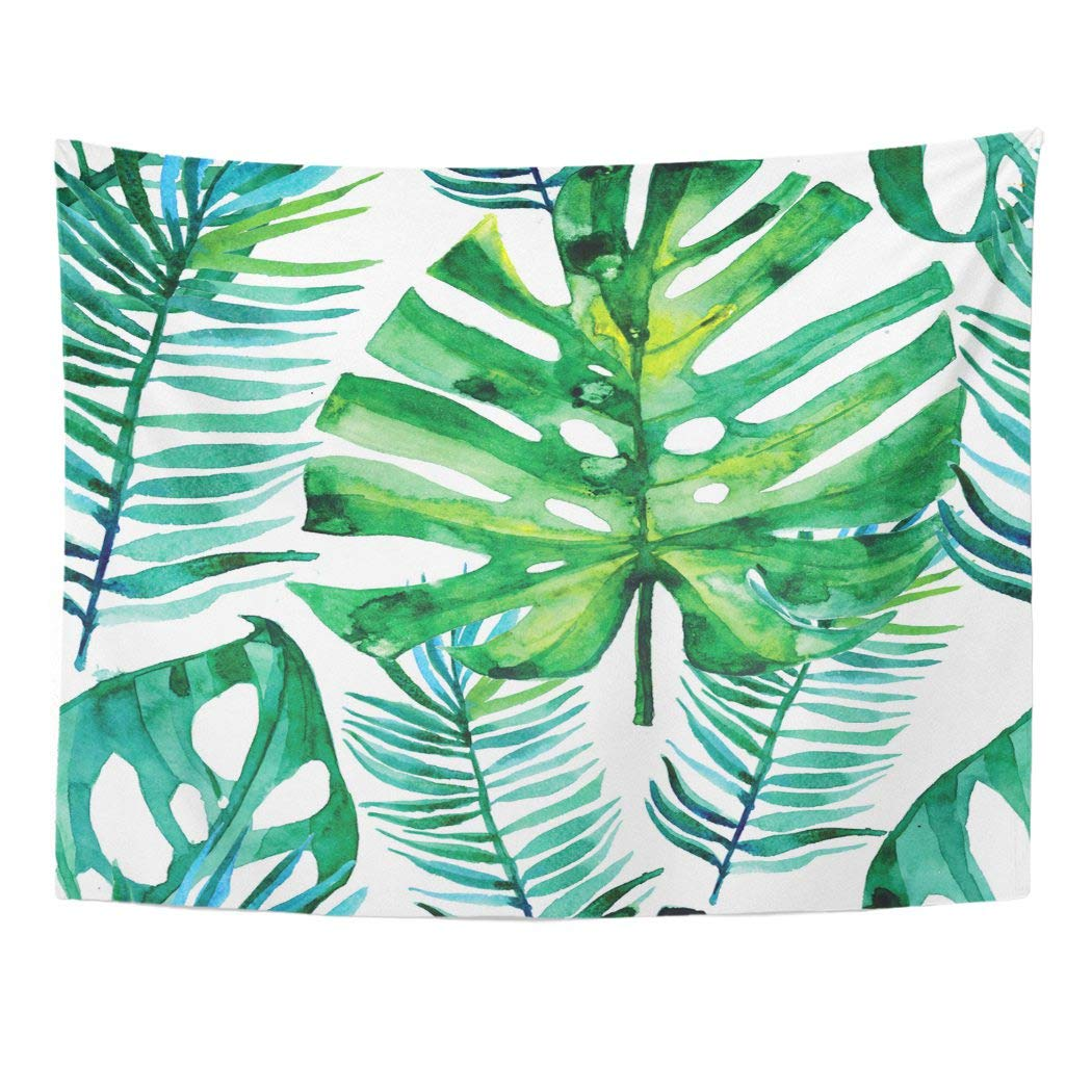 Ufaezu Pattern Watercolor Green Tropical Leaves Monstera Leaf Palm Aloha Banana Wall Art Hanging Tapestry Home Decor For Living Room Bedroom Dorm 60x80 Inch Walmart Com Walmart Com Buy foam tropical monstera leaf from the succulents & foliage range at hobbycraft. walmart