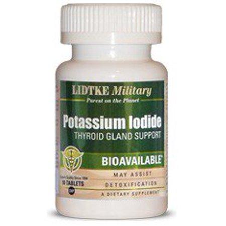 Potassium Iodide LIDTKE Military 90 - Potassium Iodide Tablets