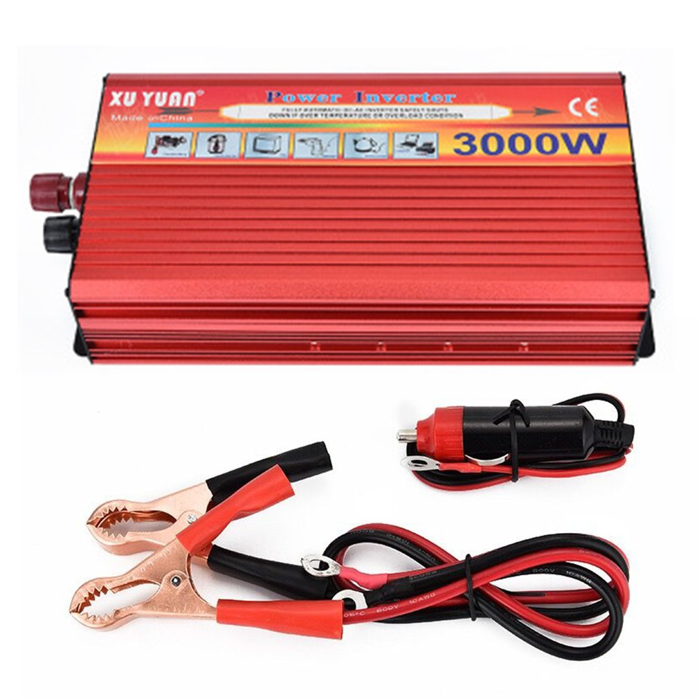 Xuyuan 3000w Solar Car Power Inverter Portable Converter Charger With High Low Voltage Protection For Home