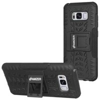Amzer Rugged Armor Slim Protective ShockProof Hybrid Warrior Case for Samsung Galaxy S8 Plus