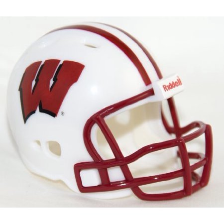 WISCONSIN BADGERS Riddell Revolution POCKET PRO Mini Football Helmet by ON-FIELD By (Riddell Wisconsin Badgers Replica Helmet)