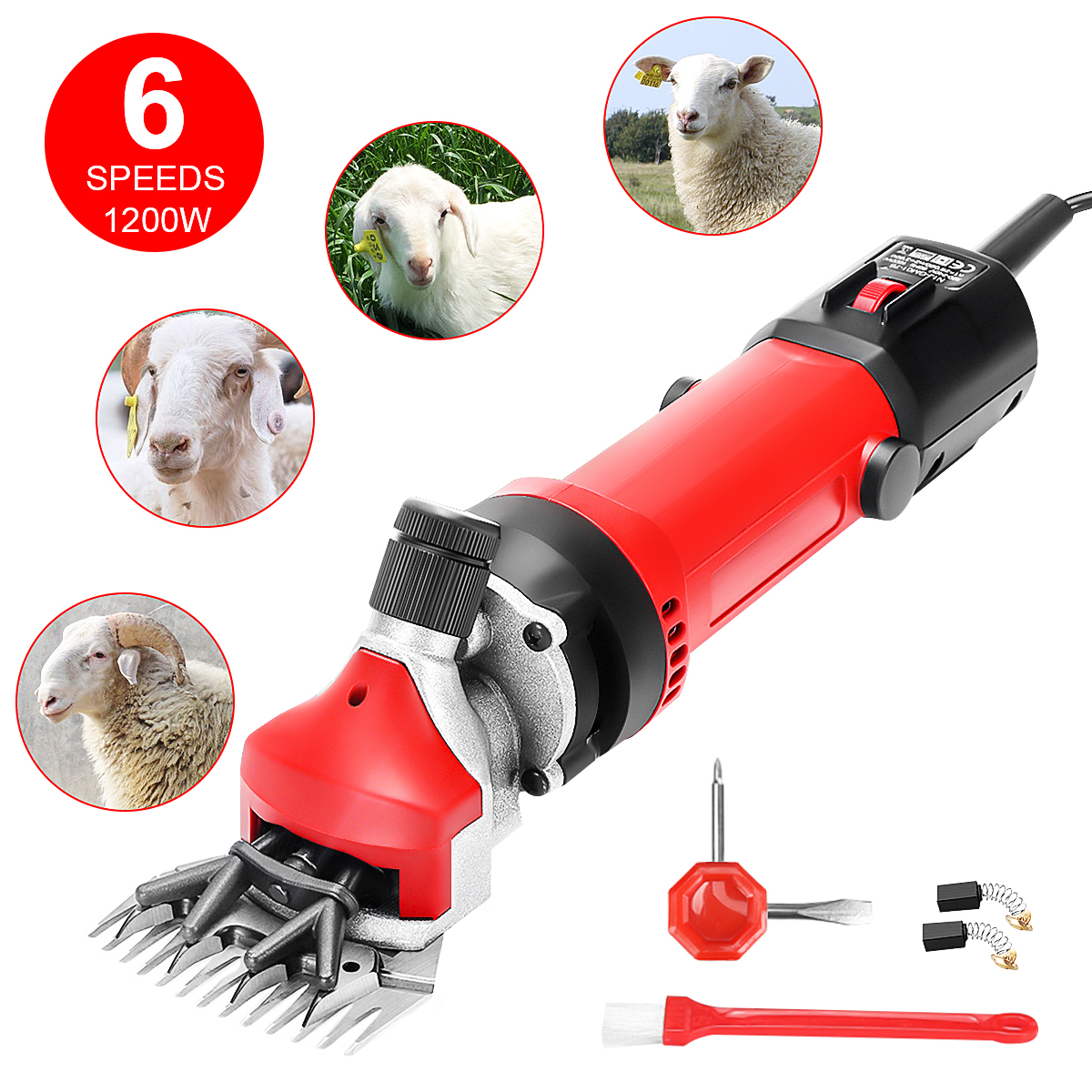 Details about  /Electric Horse Cattle Sheep Shearing Shears Clippers Grooming Trimmer 6-Speed