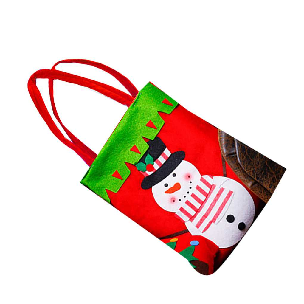 Christmas Gift Bags Santa Claus Candy Sweet Treat Pouch Portable Wedding Sack Present Handbag Xmas Party Home Decoration