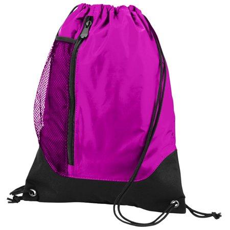 Black Velvet Drawstring Bag (Augusta Sportswear Tres Drawstring Backpack 1149)