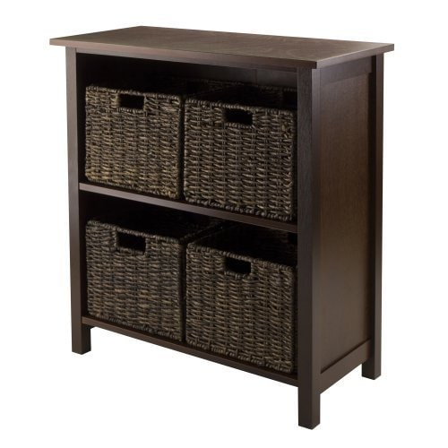 Luxury Home Granville Storage Shelf with Four Foldable Baskets