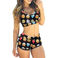 83bab4d34738a Product Image SAYFUT New Women s Sporty Bathing Suit Boy Shorts Two Piece  Swimwear Set Swimming Suit