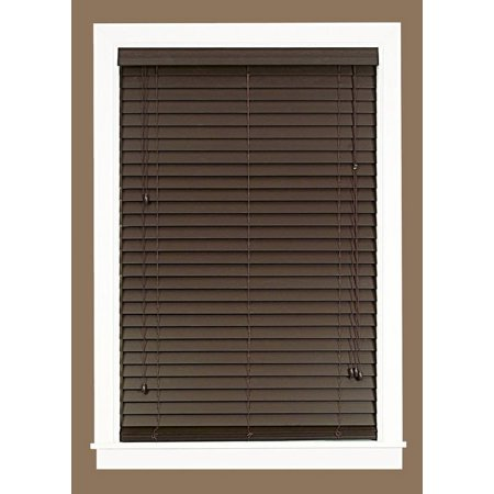 Mini Window Blinds 2 Inch Faux Wood Grain Plantation
