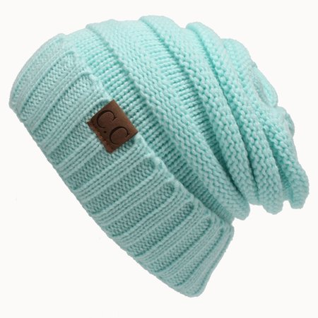 1b973675859ea Unisex Knit Slouchy Beanie CC Oversized Thick Cap Hat Women Multi ...