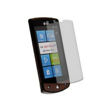 Skinomi Dark Wood Full Body Cover + LCD Screen Protector Film for LG Optimus (Dark Wood Lcd)