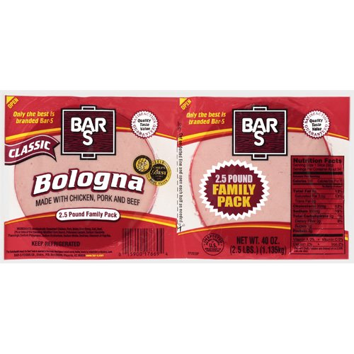 Bar-S: Family Pack Classic Bologna, 40 Oz