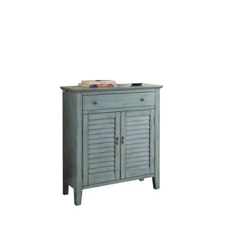 Blue Console - ACME Winchell Console Table, Antique Blue