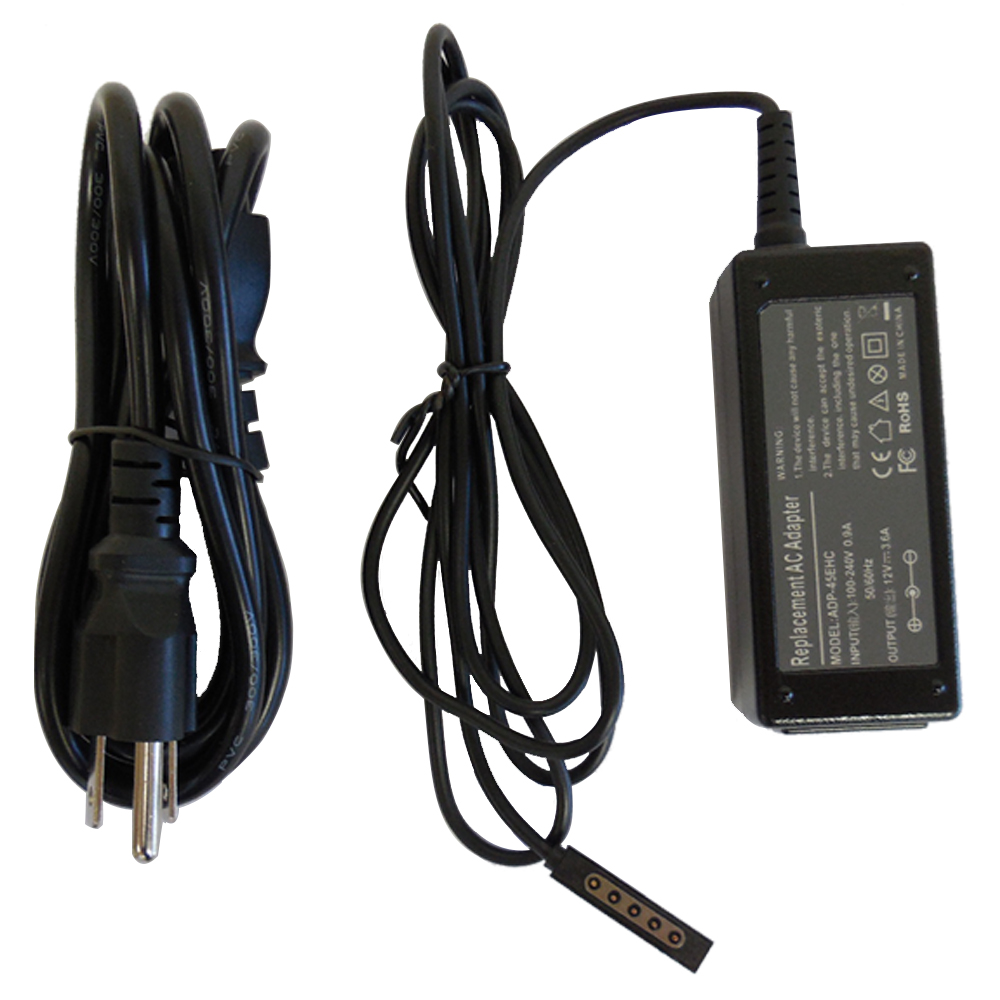 Superb Choice 12V/3.6A Microsoft Surface 10.6 Windows 8 Pro Tablet Power Supply AC Adapter