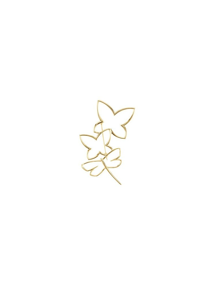 10k Yellow Gold Butterfly Dragonfly Brooch by